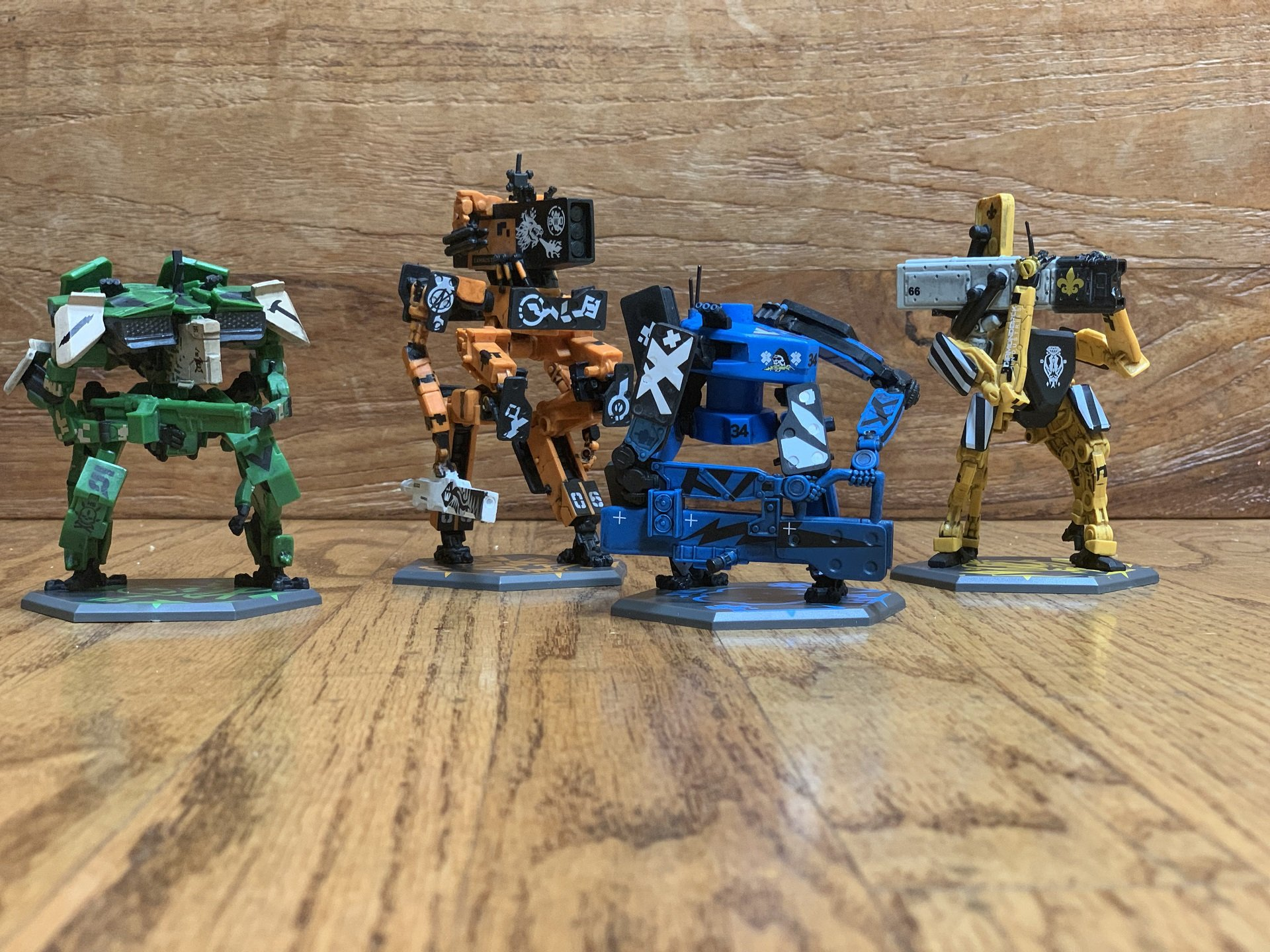 These are your four main mechs, fully painted and ready to rumble.
