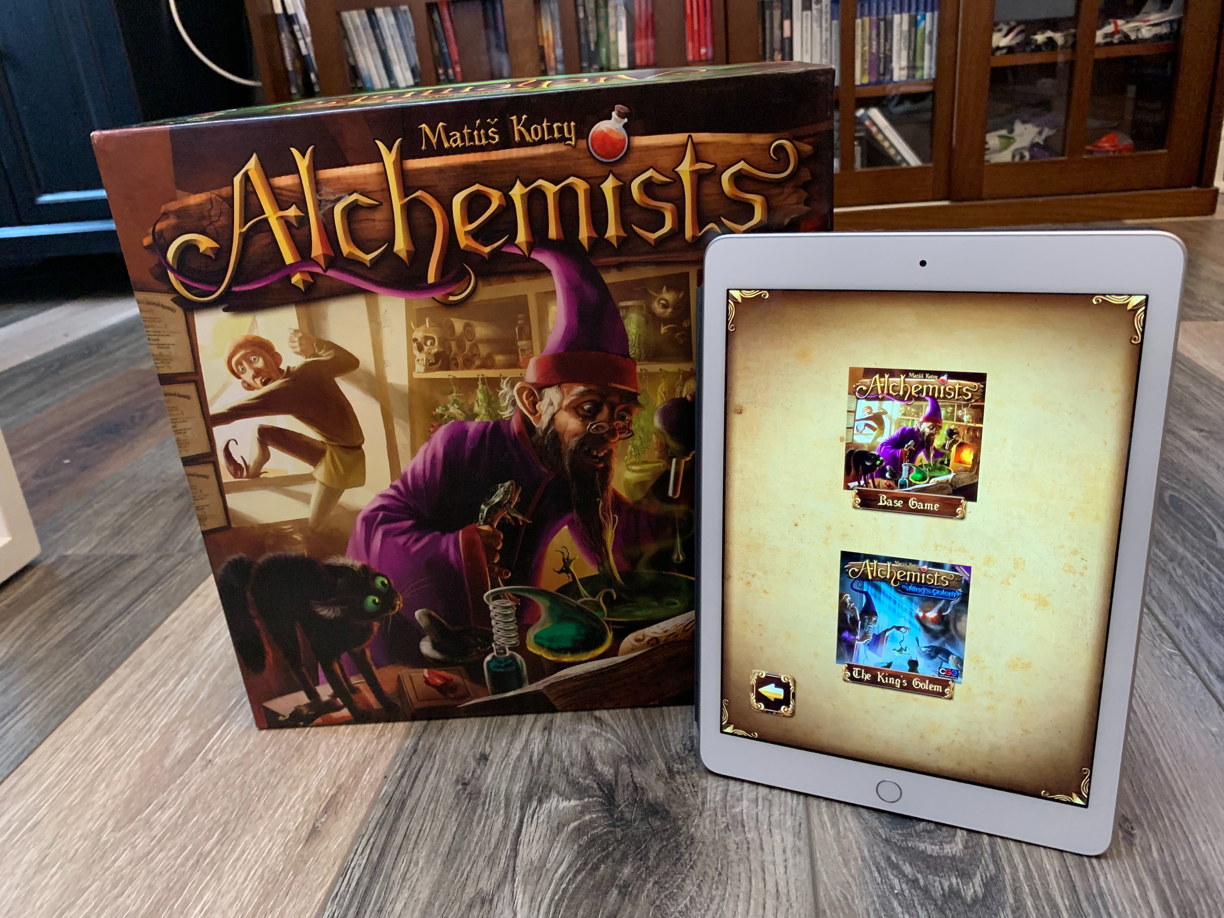 The companion app for Alchemists is built right into the game. Don't experiment without it!