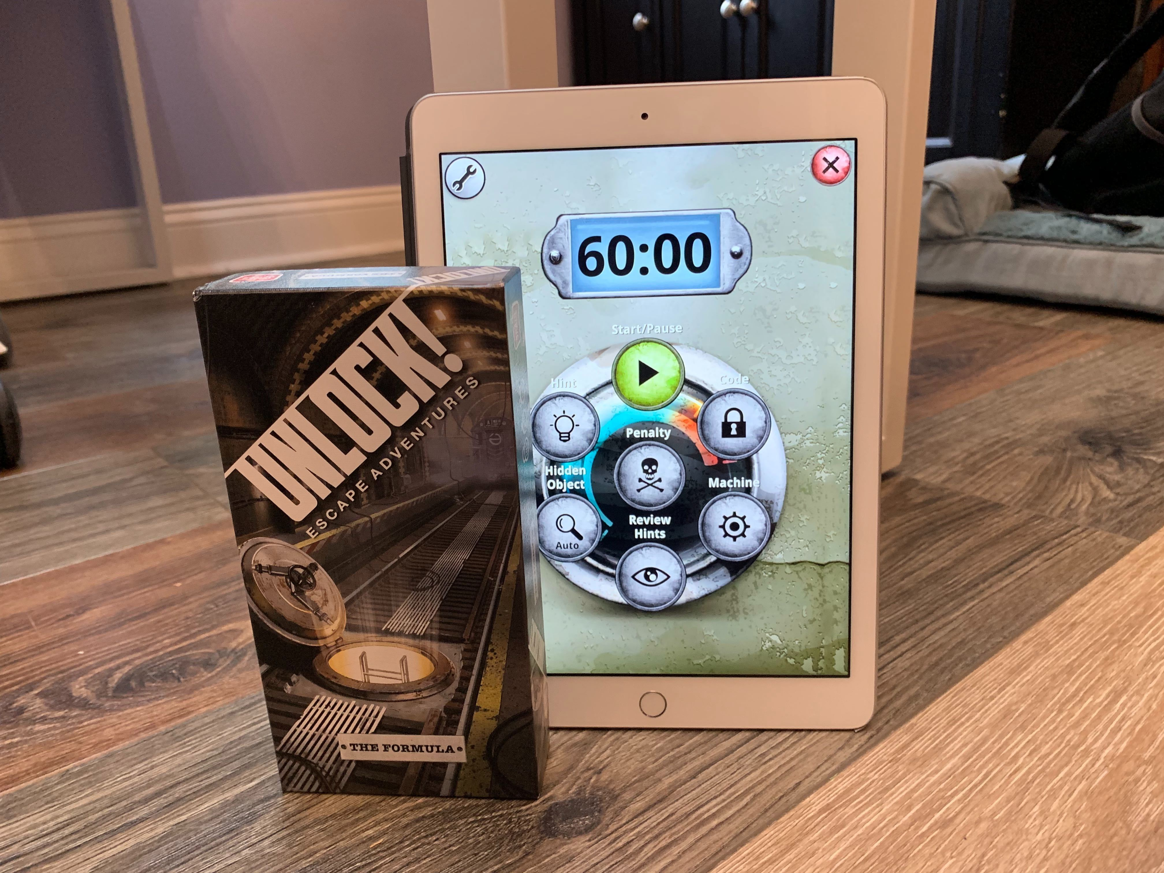 The Unlock! series of games is a card (and companion app) -based escape room!