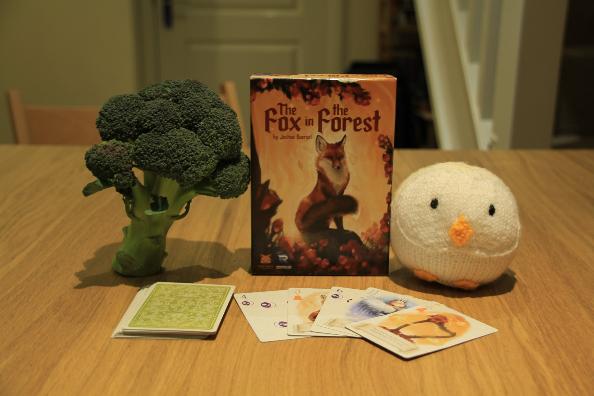 Sadly, each copy of Fox in the Forest does not come with a broccoli tree or knitted owl.