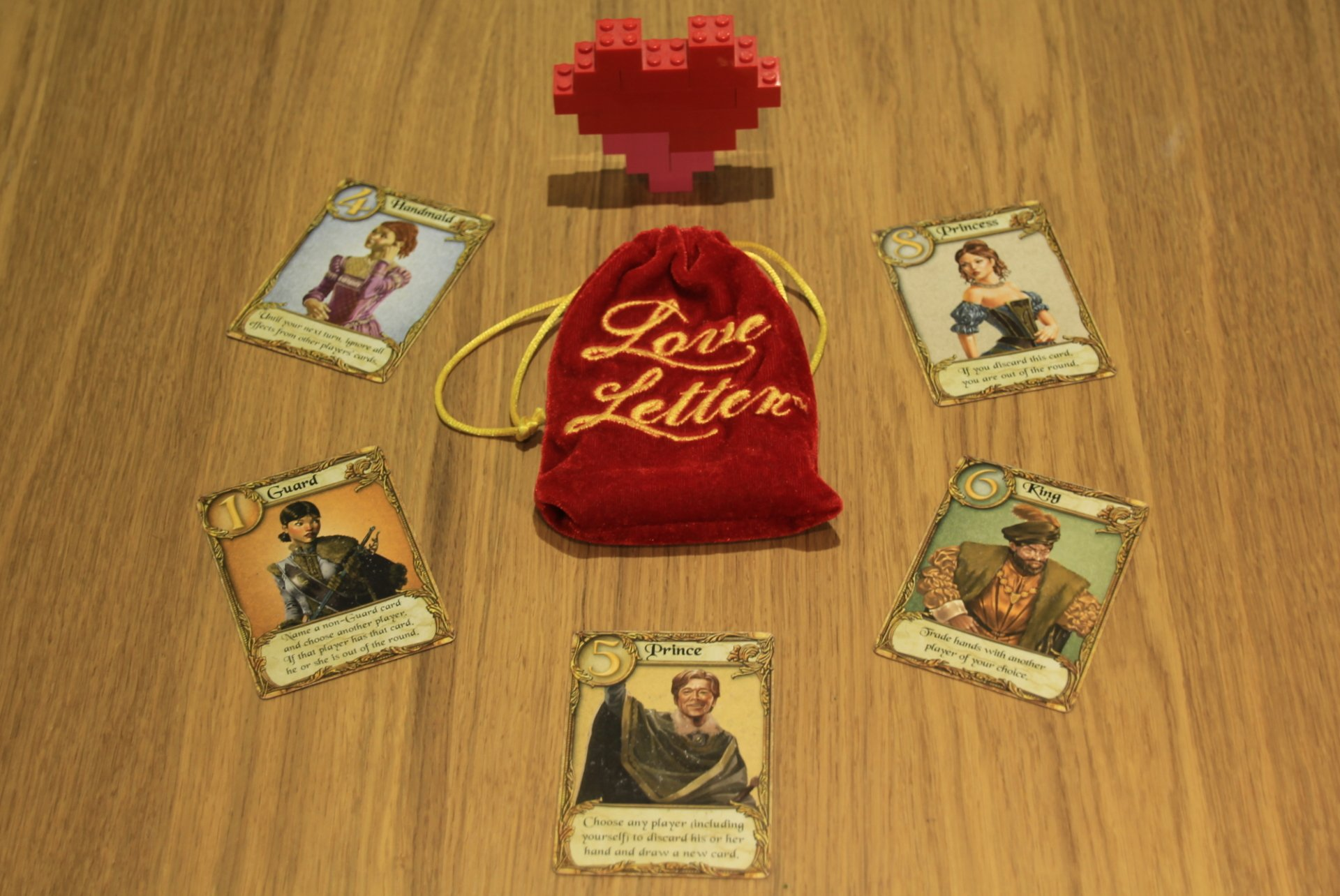 Love Letter best games for public transport tabletop gaming