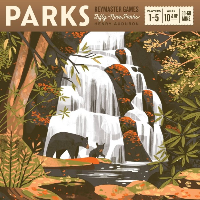 Parks beautiful board game box art