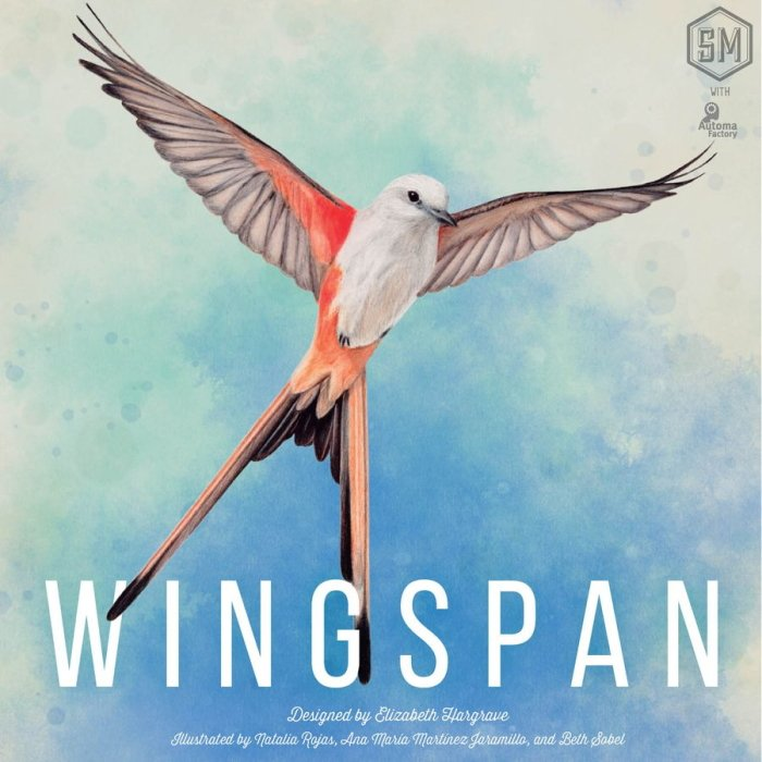 Best board game box art Wingspan