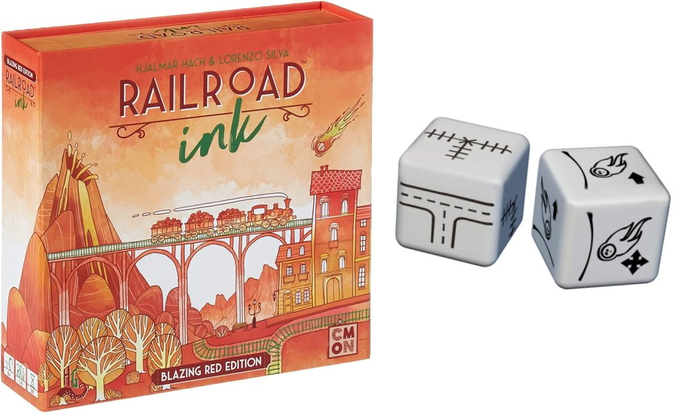 Roll and writes to play online railroad ink