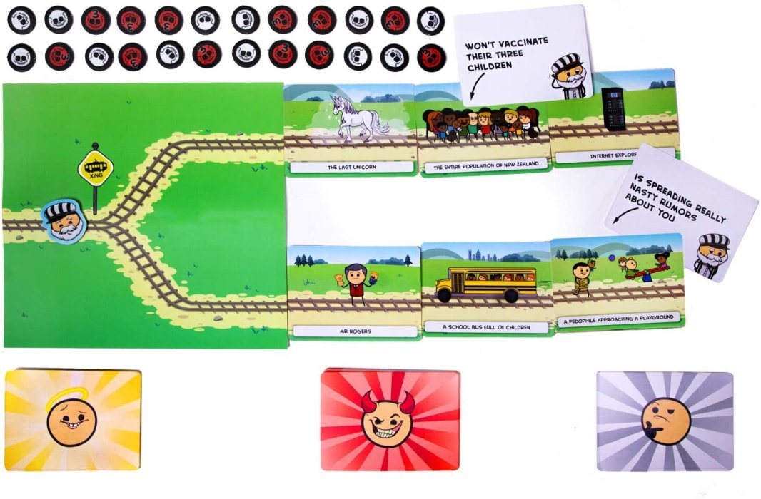 Trial by Trolley icebreaker board game