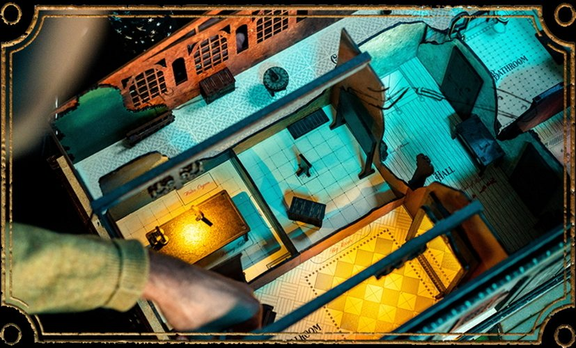 Spectre and vox interview escape room board game