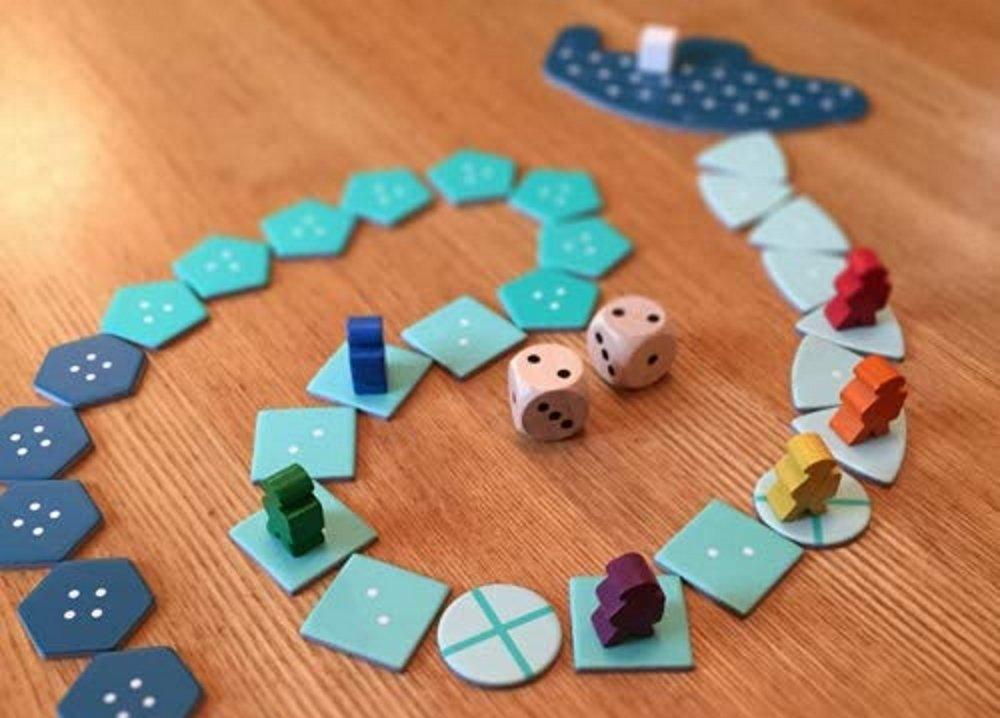 Treasure packed board games deep sea adventure