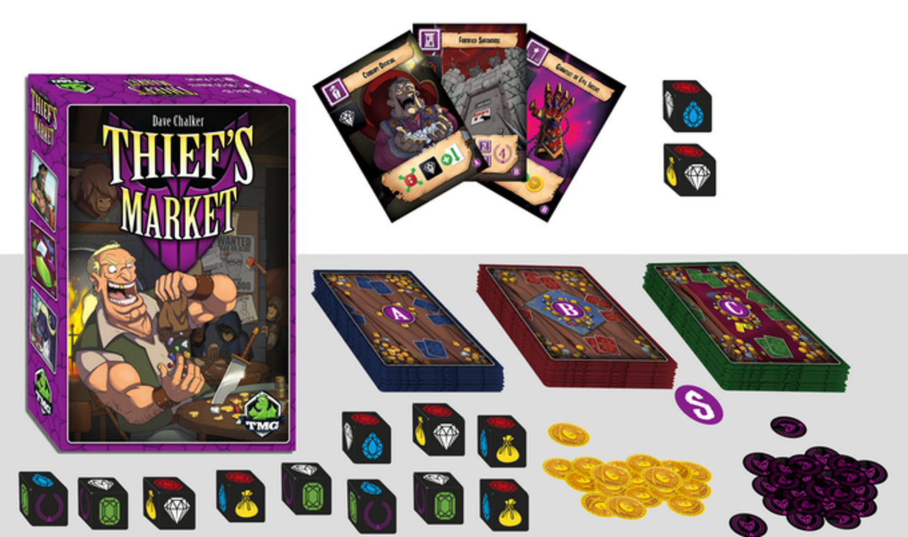 treasure packed board games thief's market